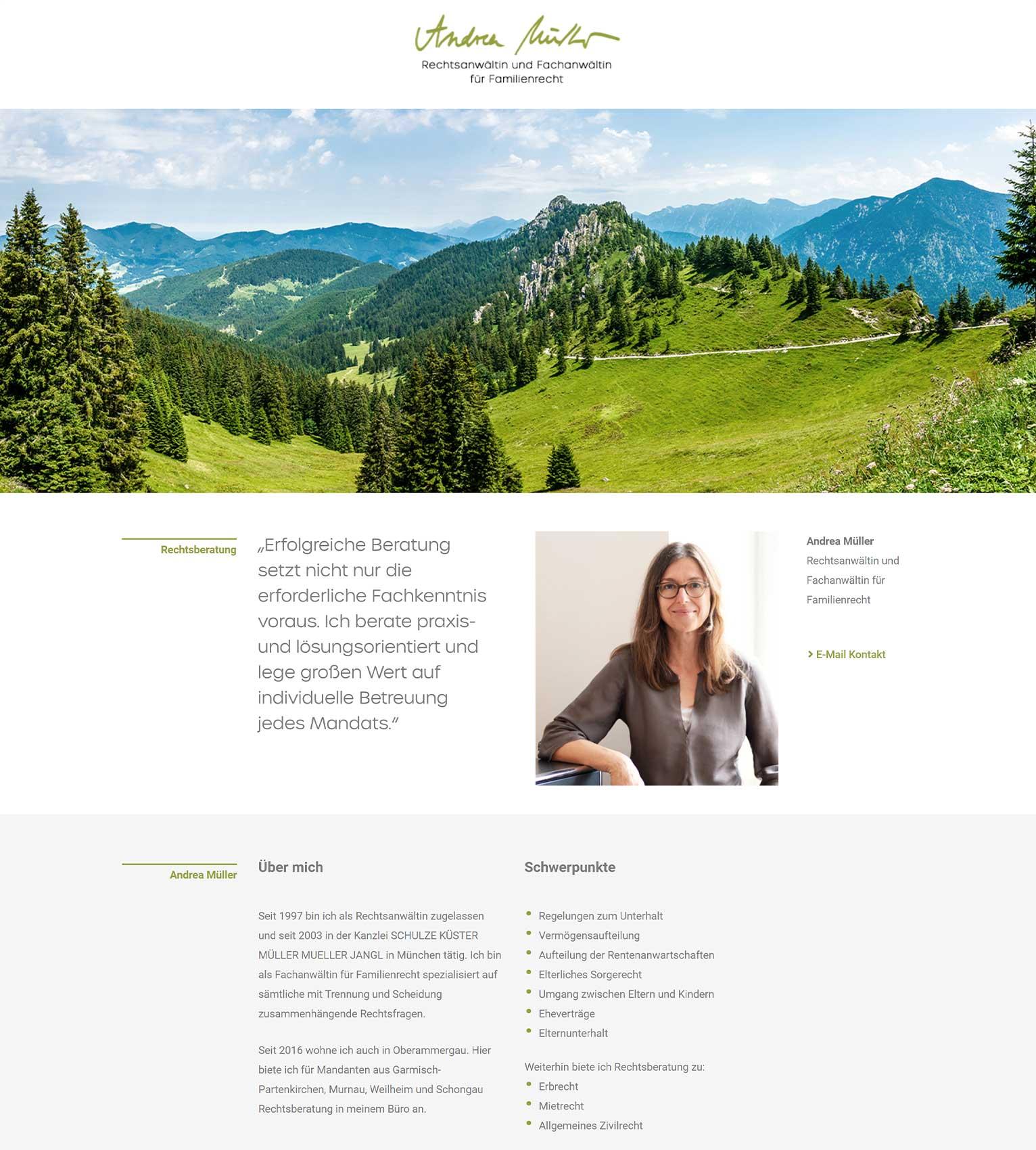 Beratung, Webprojekt, Responsive, Rechtsanwältin, Luckypage, München, Agentur für Web, SEO, Digital Marketing, Komunikationsberatung, München