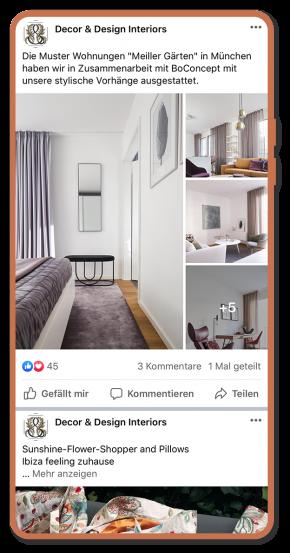 Beratung, Webprojekt, Responsive, Möbelgeschäft, Social Media, Interior Design, Luckypage, München, Agentur für Web, SEO, Digital Marketing, Komunikationsberatung, München