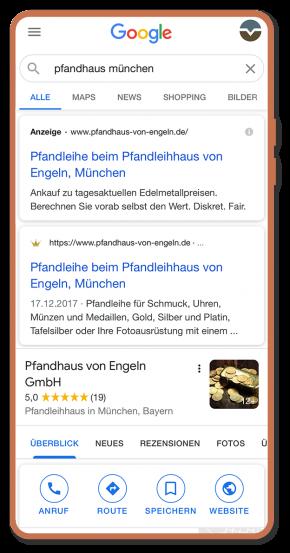 Beratung, Webprojekt, Responsive, Pfandhaus von Engeln, Luckypage, München, Agentur für Web, SEO, Digital Marketing, Komunikationsberatung, München